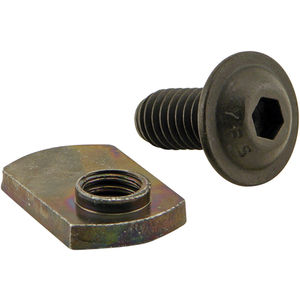 Bolt Assembly: 5//16-18 X .687 Flanged Button Head Socket Cap Screw and Slide-in Double Economy T-Nut 80//20 Inc 15 Series 3355 FBHSCS Black Zinc 15 Pack