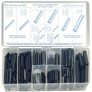 Slotted Spring pin 5 mm x 40 mm Smooth Finish roll Assortment kit for Small Machine Projects 50 Pieces