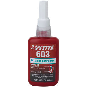 50ml Bottle Loctite Green Oil Tolerant Retaining Compound Fastenal