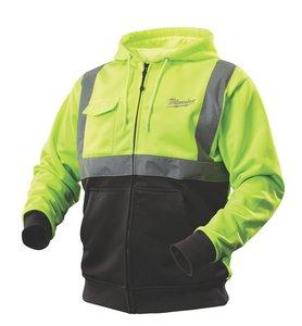 S Hi-Vis Lime/Black 2377 Thick Cotton Blend M12™ Cordless Battery