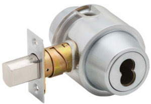 compliance 70mm x 29mm x 2mm satin chrome double cylinder deadlock