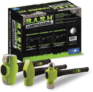 WILTON 3PCBASH Hammer Set,Forged Steel,Ergonomic